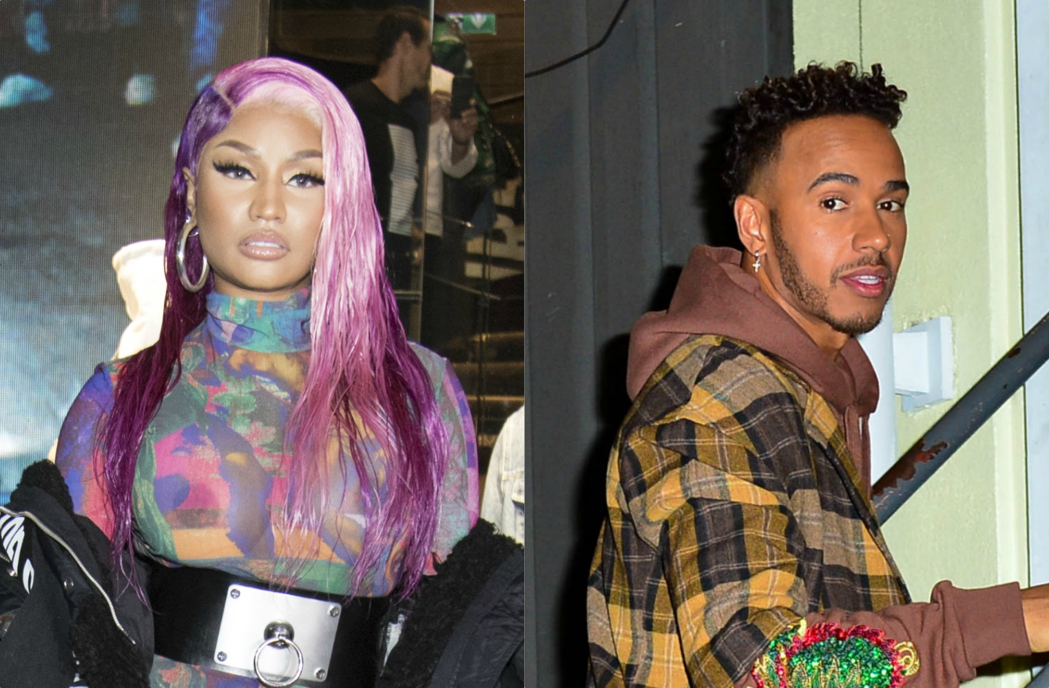 Nicki Minaj and Lewis Hamilton spotted in Dubai
