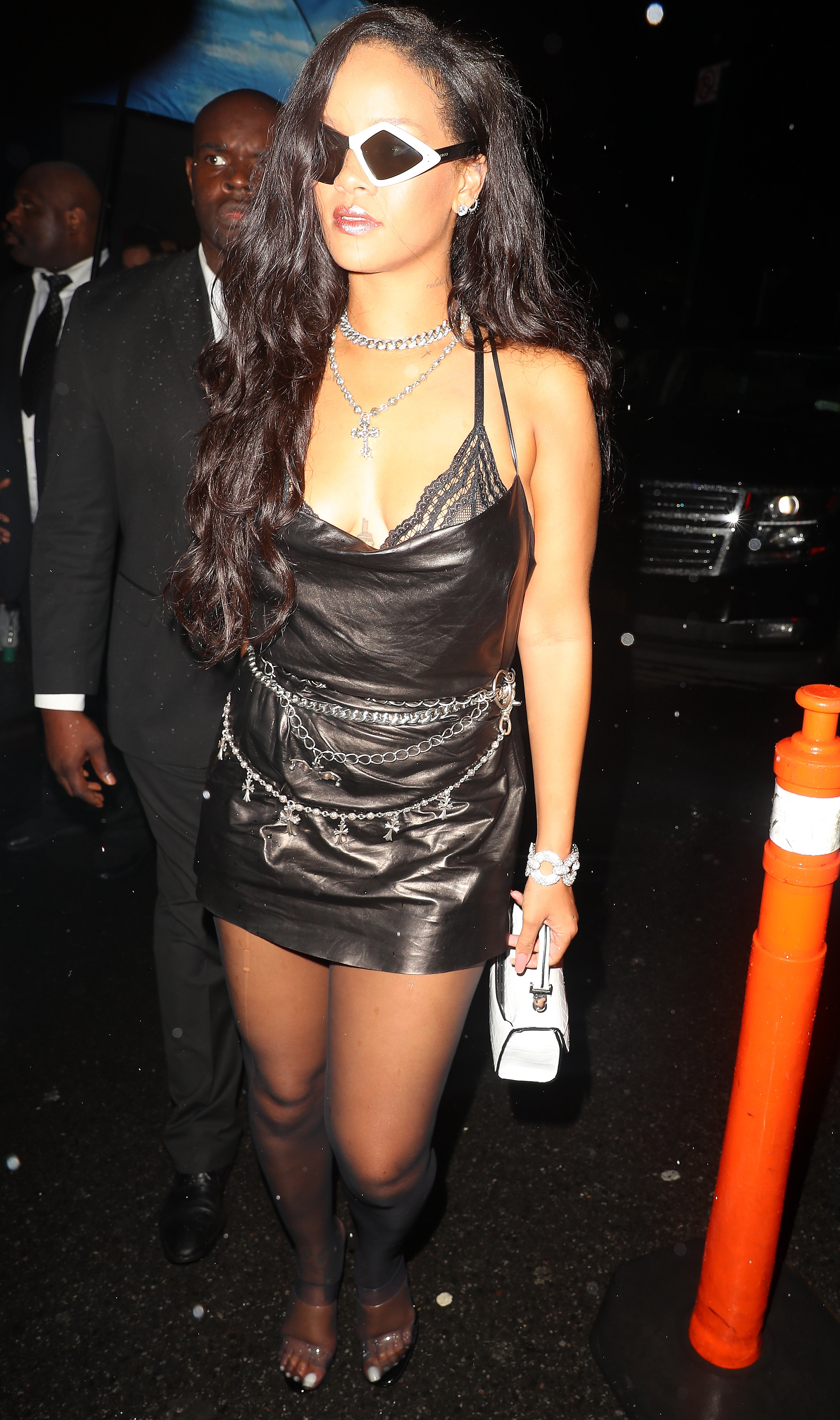 Rihanna Wears Gucci To  1 Oak After Party For Savage x Fenty Lingerie Line