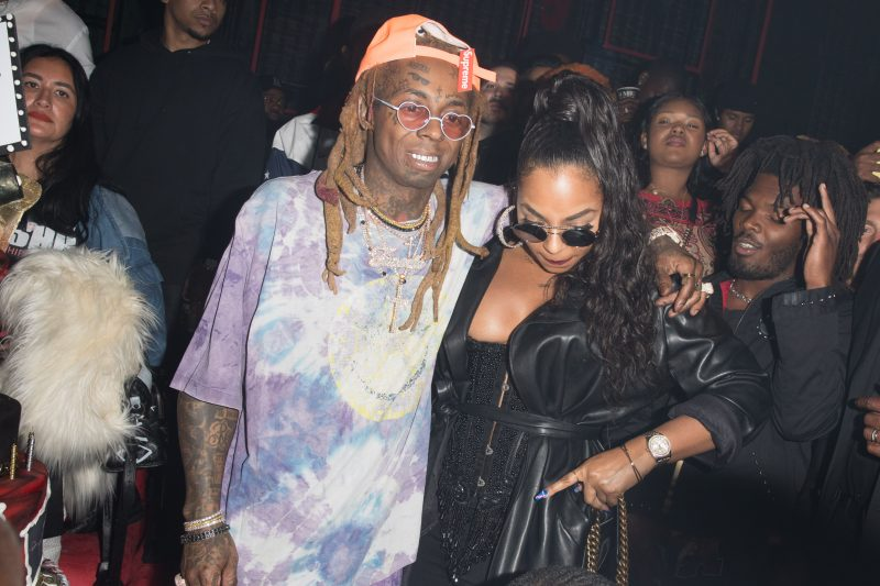 Lil Wayne and Ashanti are both spotted together at Lil Wayne Birthday Celebration on the same day he released his Carter 5 Album in Los Angeles