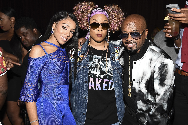 "ATLANTA, GA - OCTOBER 02:  Lil Mama, Da Brat and Jermaine Dupri attend WE tv Celebrates The Return Of ""Growing Up Hip Hop Atlanta"" at Club Tongue & Groove on October 2, 2018 in Atlanta, Georgia."