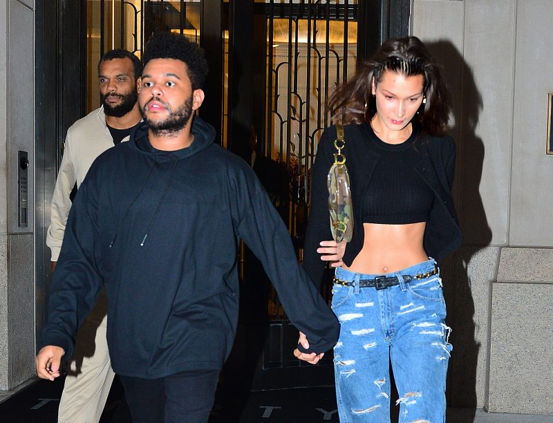 Bella Hadid and The Weeknd step out hand in hand to go to Global Citizen Festival in New York, NY.