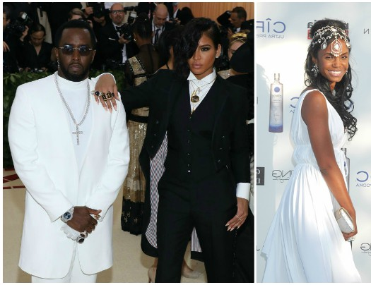 Diddy Cassie and Kim Porter