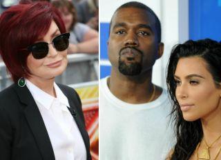 Sharon Osbourne Kanye West Kim Kardashian