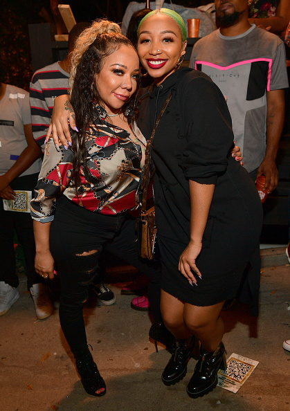 """ATLANTA, GA - OCTOBER 04: Tameka Harris and Zonnique Pullins attends the """"Dime Trap"""" Album release Event at The Trap Museum on October 4, 2018 in Atlanta, Georgia. (Photo by"""