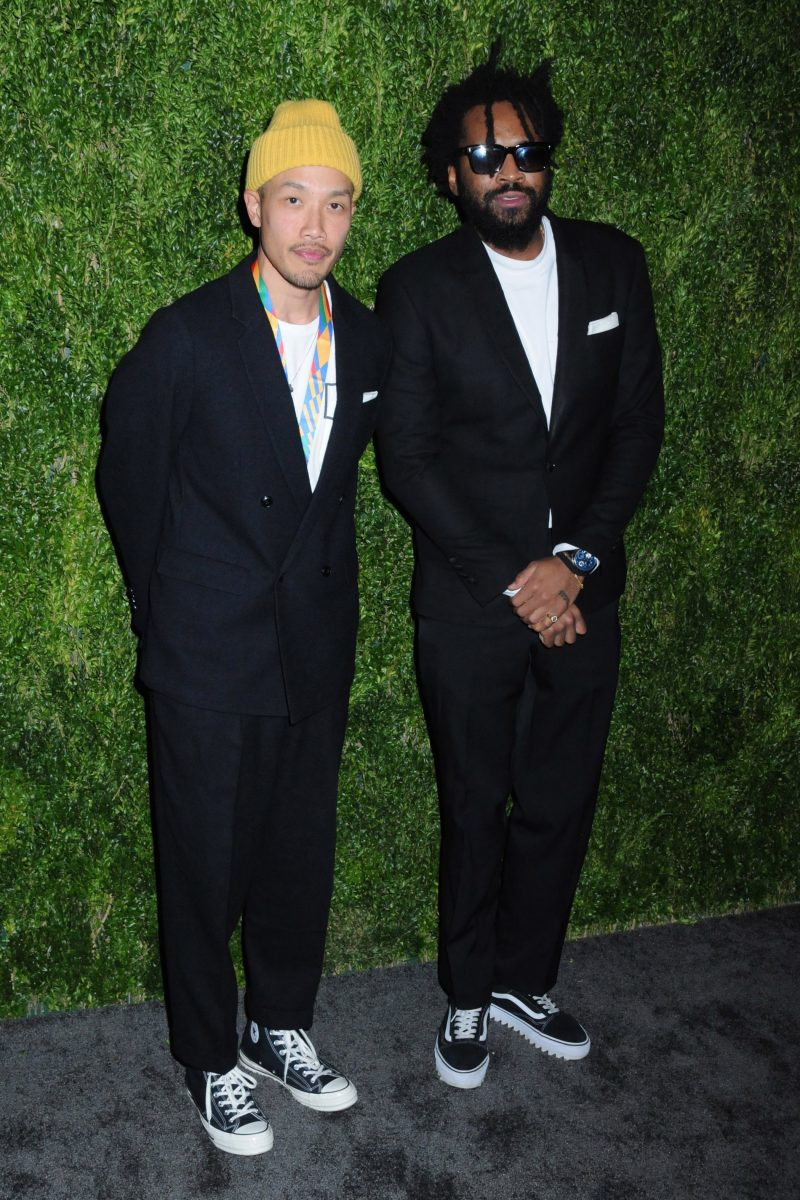 Public School Designers Dao-Yi Chow and Maxwell Osbourtne 15th Annual CFDA/Vogue Fashion Fund 2018, held in the Brooklyn Navy Yard in Brooklyn, New York
