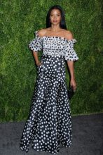 Renee Elise Goldsberry 15th Annual CFDA/Vogue Fashion Fund 2018, held in the Brooklyn Navy Yard in Brooklyn, New York