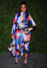 LaLa Anthony attends FDA / Vogue Fashion Fund 15th Anniversary event at Brooklyn Navy Yard on November 5, 2018 in Brooklyn, New York.