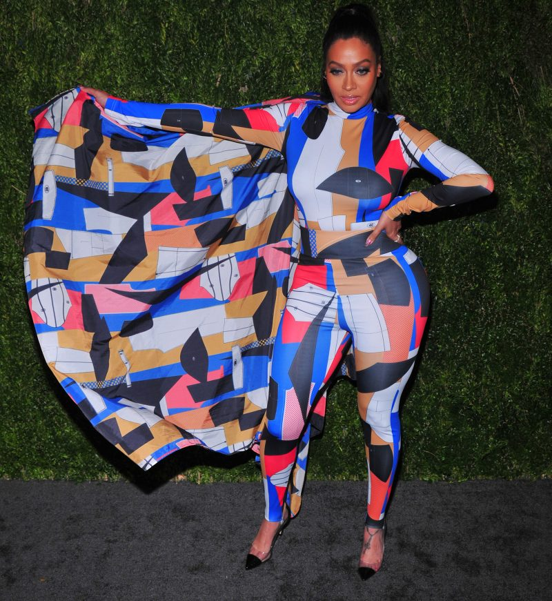 LaLa Anthony attends CFDA / Vogue Fashion Fund 15th Anniversary event at Brooklyn Navy Yard on November 5, 2018 in Brooklyn, New York.