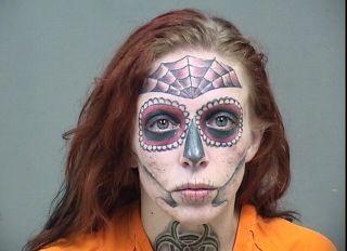 Skull face mugshot