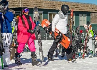 Kim Kardashian Kendall Jenner Saint West Ski Aspen