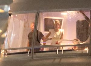Katie Holmes and Jamie Foxx Boat In Miami