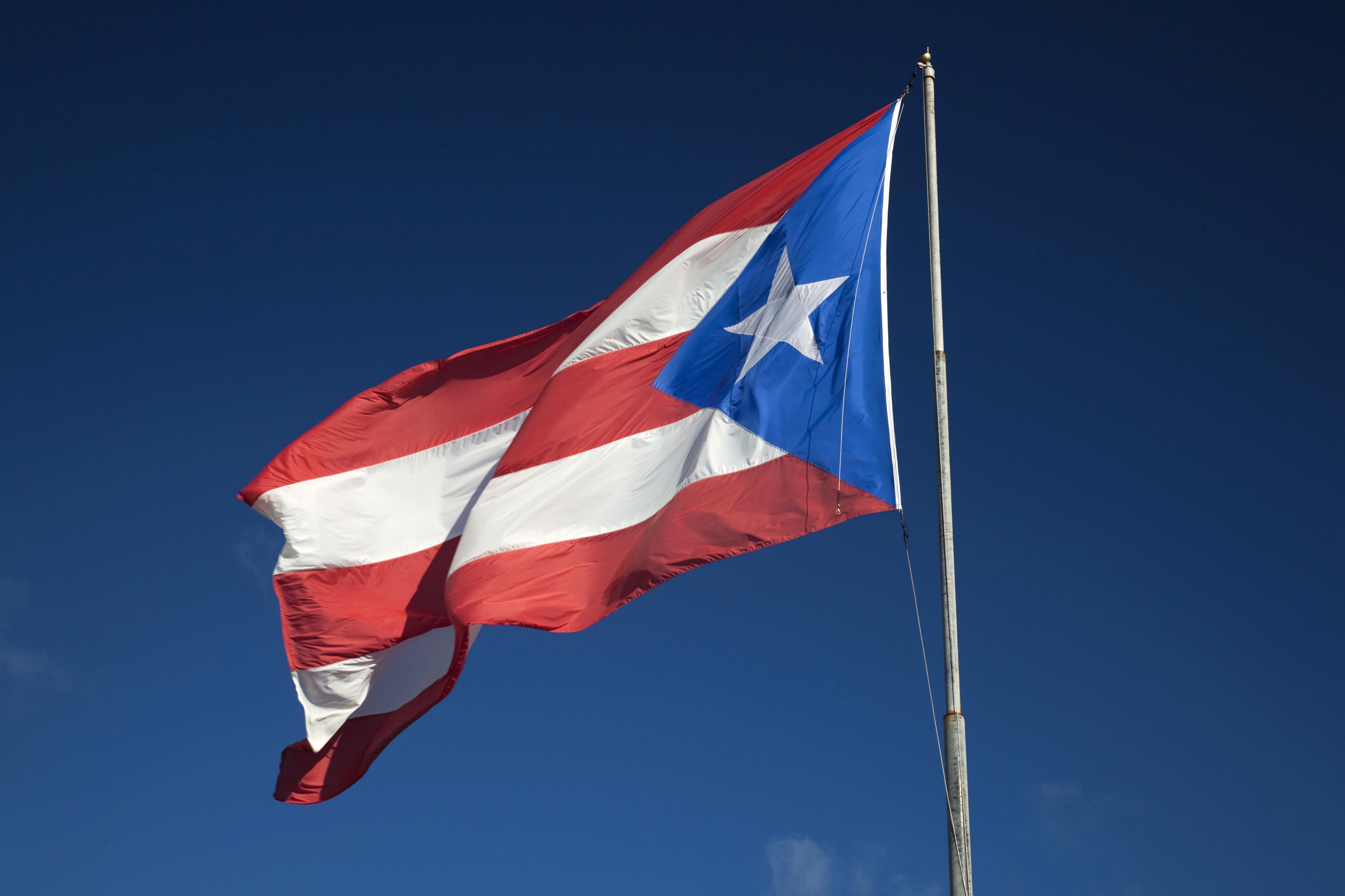 Puerto Rican flag, Isabela, North Coast, Puerto Rico