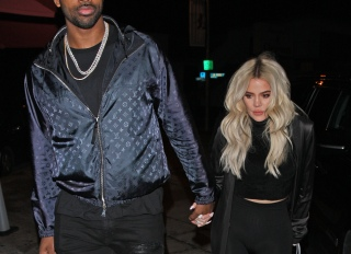 Khloe Kardashian and Tristan Thompson dine at Craig's after game