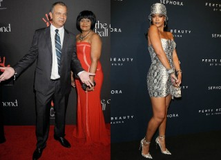 Rihanna and Ronald Fenty