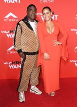 Tracy Morgan and Megan Wollover attend the What Men Want Los Angeles Premiere