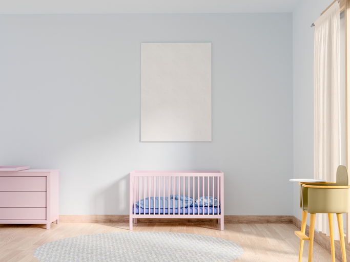 Crib In Bedroom At Home
