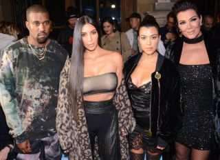 Kim Kardashian West and Kanye West Kourtney Kardashian and Kris Jenner