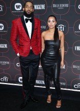 Nipsey Hussle and Lauren London Warner Music Group Pre-Grammy Party