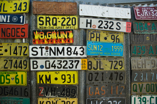 Number plate collection in pub.