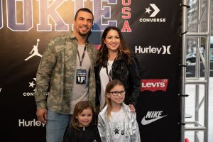 Saints Kurt Coleman and family Rookie USA Fashion Show