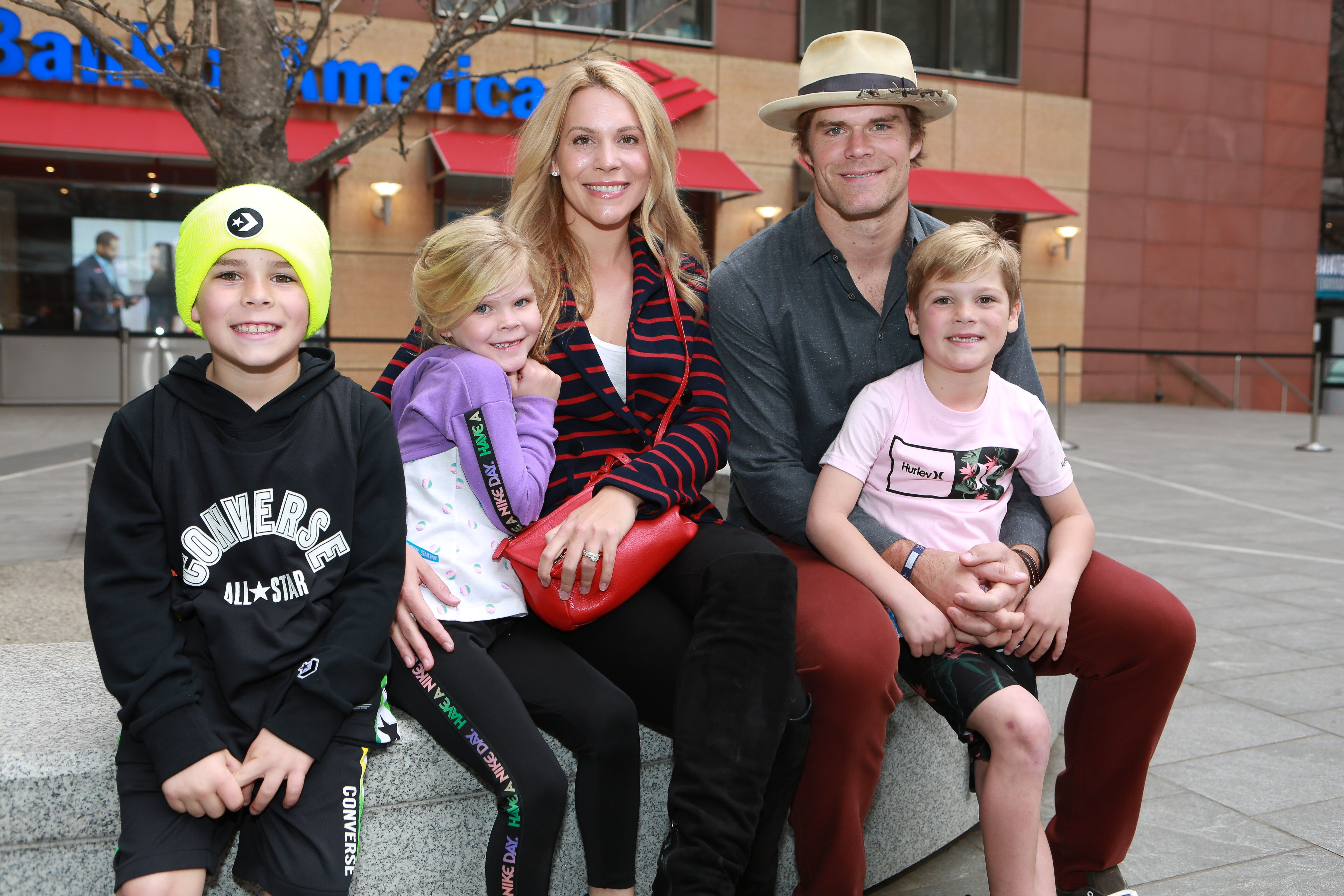 Panthers Greg Olsen and family Rookie USA Fashion Show