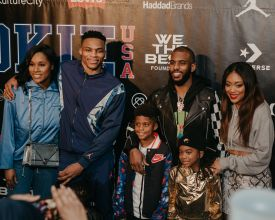 Russell Westbrook and Chris Paul families Rookie USA Fashion Show