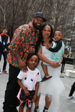 Captain Munnerlyn and family Rookie USA Fashion Show