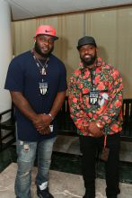 Charles Johnson and Captain Munnerlyn Rookie USA Fashion Show