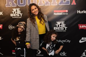 Adrienne Houghton and nieces Jet and Beau Rookie USA Fashion Show