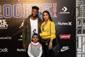Broncos Emmanuel Sanders and family Rookie USA Fashion Show