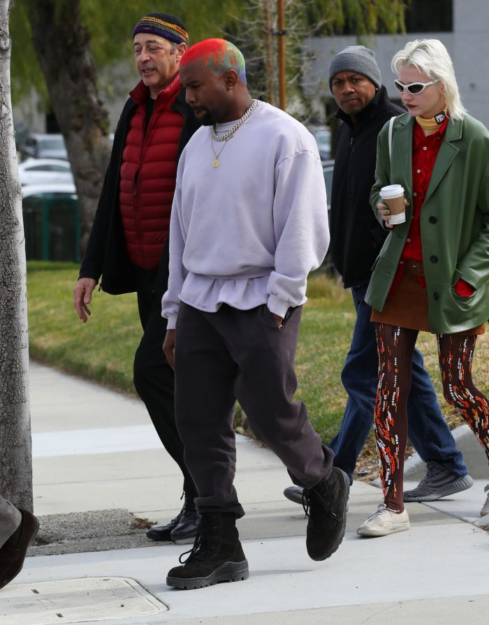 Kanye West Has Colorful Hair