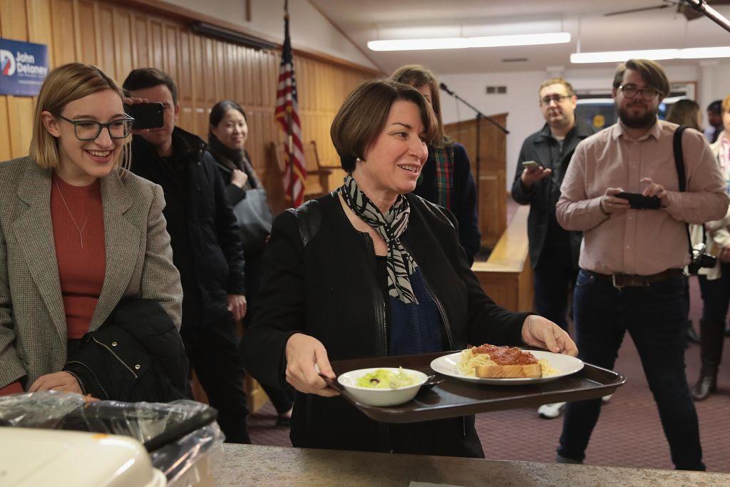 Democratic Presidential Candidate Amy Klobuchar Campaigns In Iowa