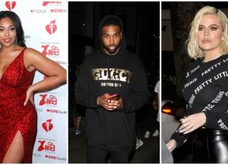 Khloe Kardashian, Jordyn Woods and Tristan Thompson