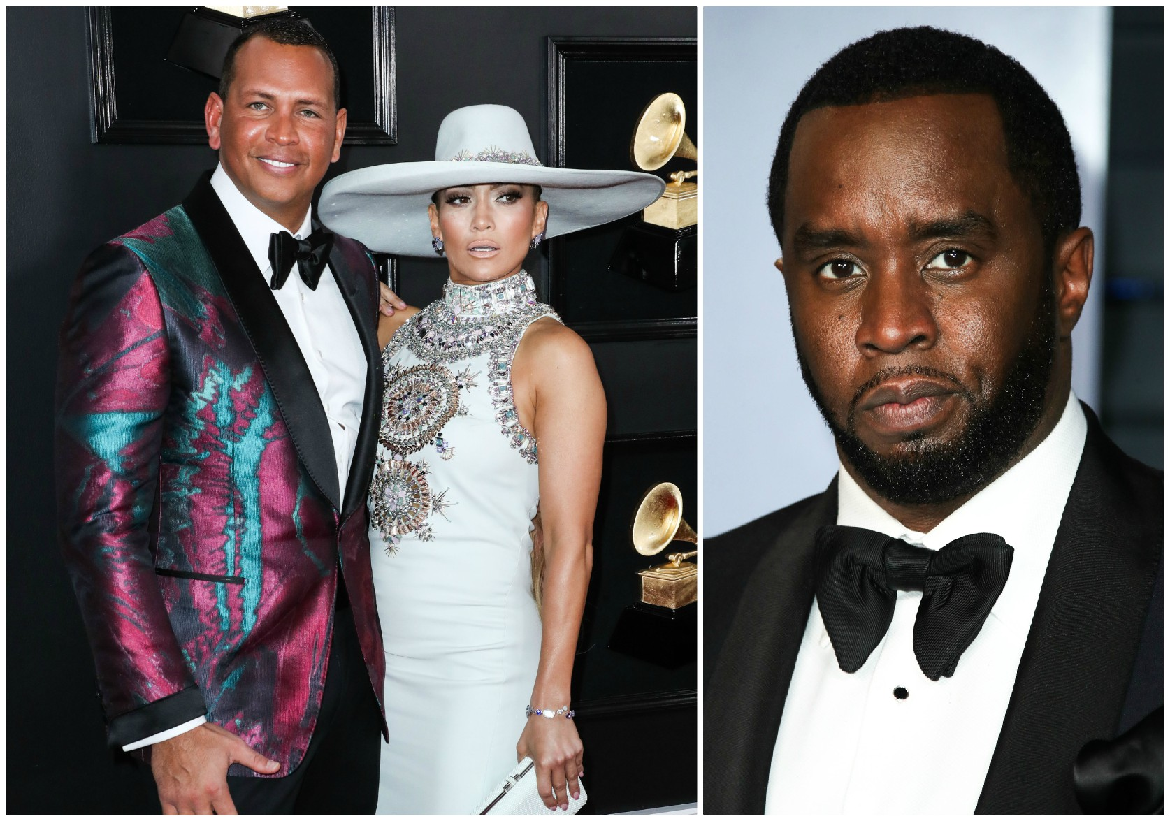 Jennifer Lopez and Alex Rodriguez and Diddy