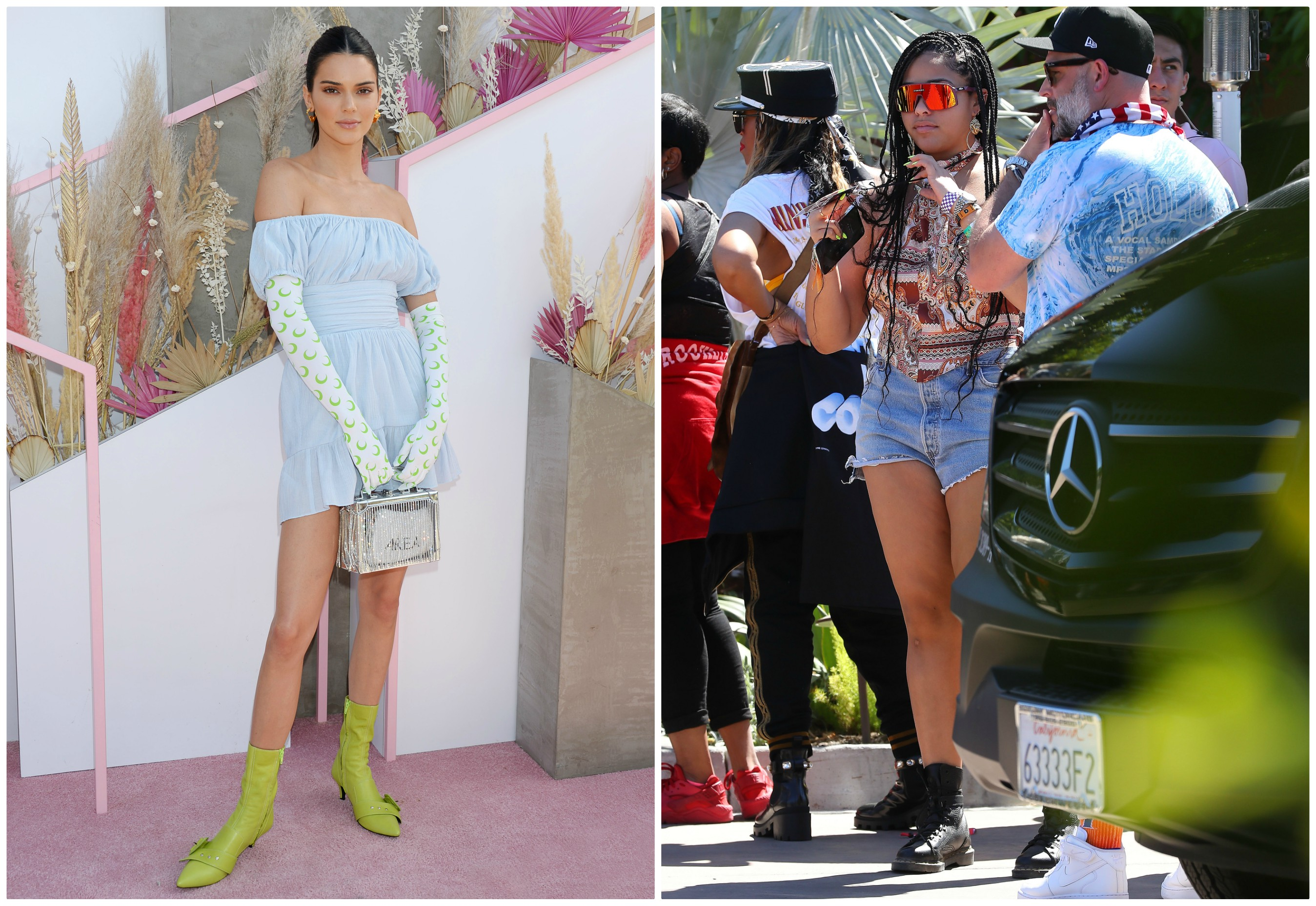 Kendall Jenner and Jordyn Woods at Coachella