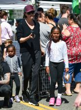 Charlize Theron with daughters Jackson and August