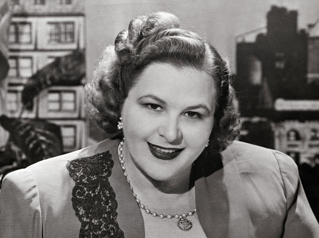 Portrait of American Singer Kate Smith