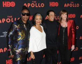 Roger Ross Williams Jonelle Procope Smokey Robinson Jane Rosenthal The Apollo Premiere At The Tribeca Film Festival