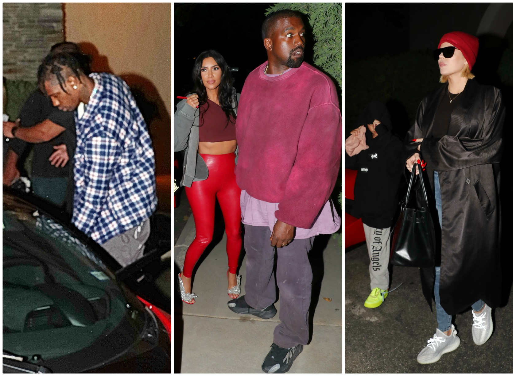 The Kardashians Celebrate Travis Scott's Birthday At The Movie Theater In Westlake Village, California