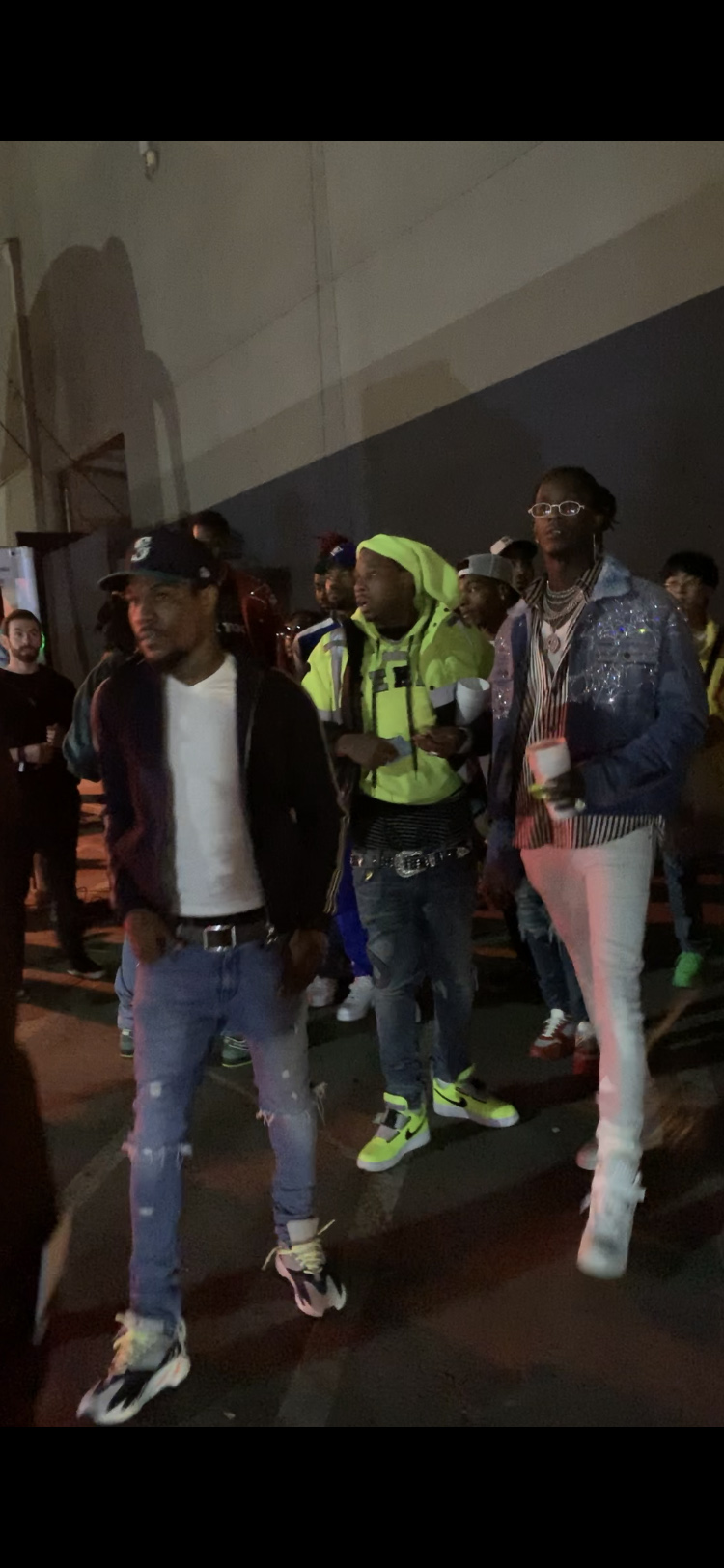 Offset and other rappers attend Travis Scott's birthday party at Universal Studios in Glendale