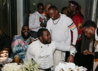 Meek Mill has a D'USSE dinner celebration for his birthday at Ysabel
