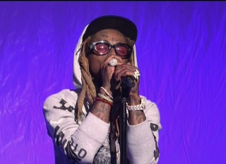 Liev Schreiber with musical guest Lil Wayne hosts the 44th season episode 5 NBC's 'Saturday Night Live'