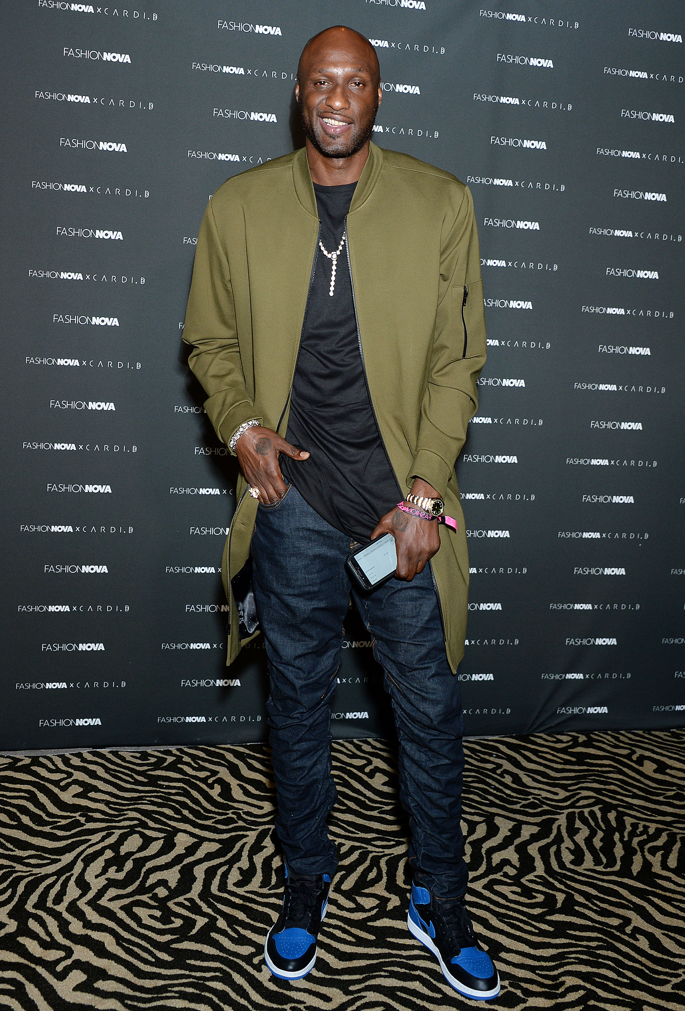 Lamar Odom The Fashion Nova x Cardi B Collection Launch Event