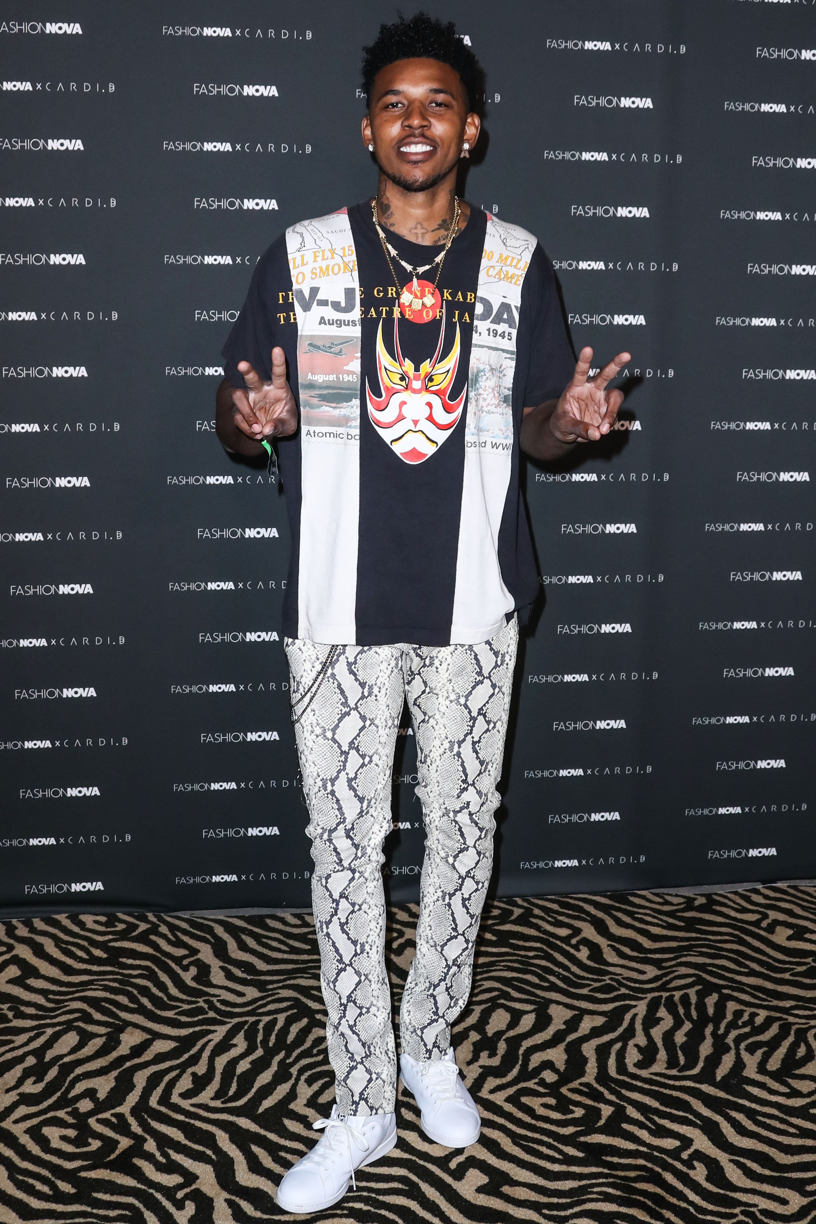 Nick Young at The Fashion Nova x Cardi B Collection Launch Event