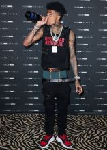 Blueface at The Fashion Nova x Cardi B Collection Launch Event