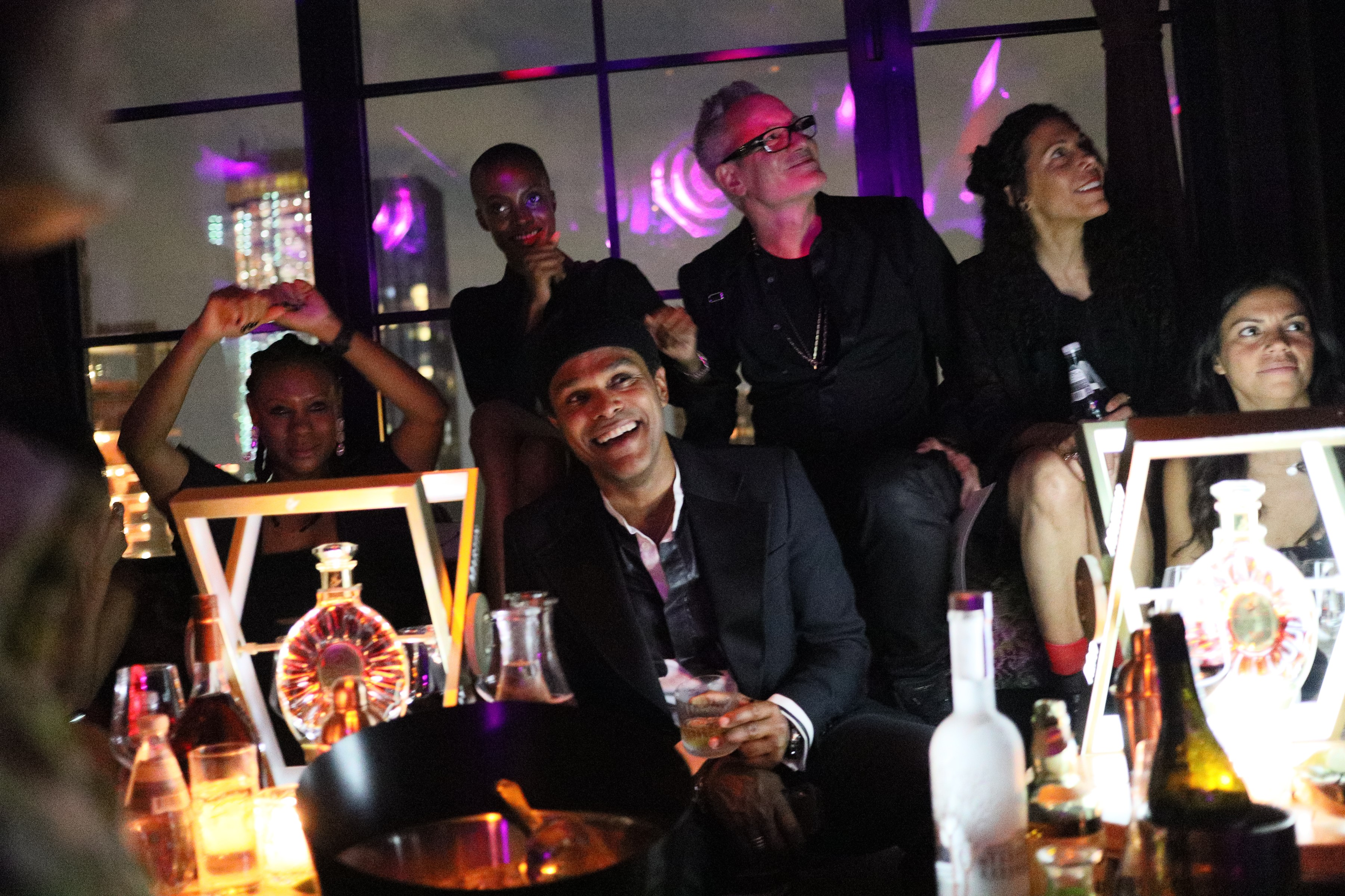 Maxwell and Angela Simmons celebrate his birthday at Fleur Room
