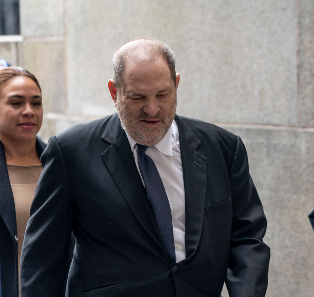 Disgraced Hollywood producer Harvey Weinstein arrives for...