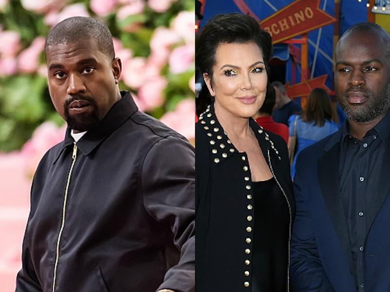Kanye West Corey Gamble Kris Jenner