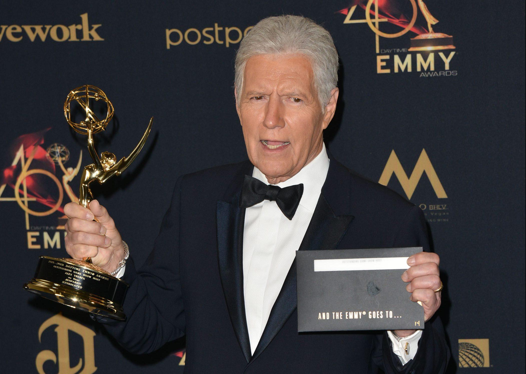 Alex Trebek at the Daytime Emmy Awards