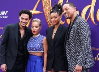 Will Smith, Jada Pinkett Smith, Jaden Smith, Trey Smith at Aladdin Premiere